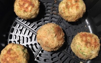 Air Fried Rice Balls with Broccoli