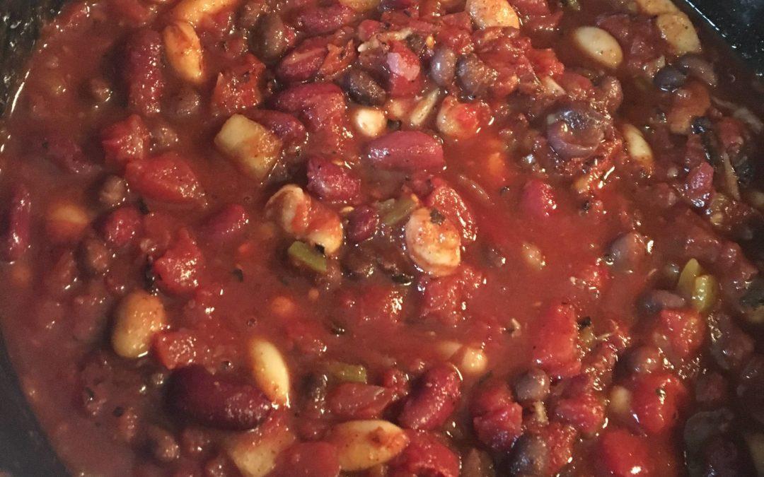 Crock-Pot Fire Roasted 3-Bean Chili